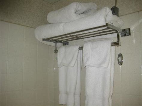 towel rack in shower picture of inn airport