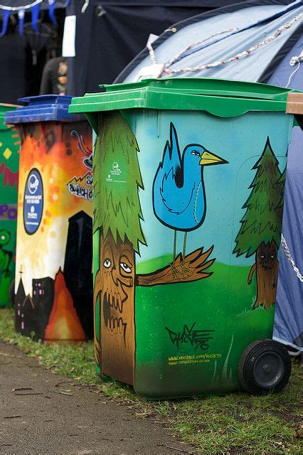 creative trash cans images  pinterest street