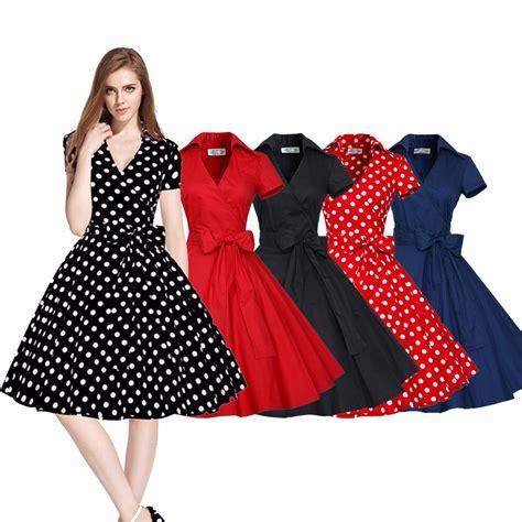 Retro Dress vintage dress 50s 60s swing pinup retro casual