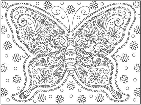 butterfly doodle coloring pages a very complicated butterfly doodle art coloring page for