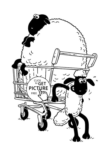 big sheep coloring page shaun the sheep coloring pages for kids printable free