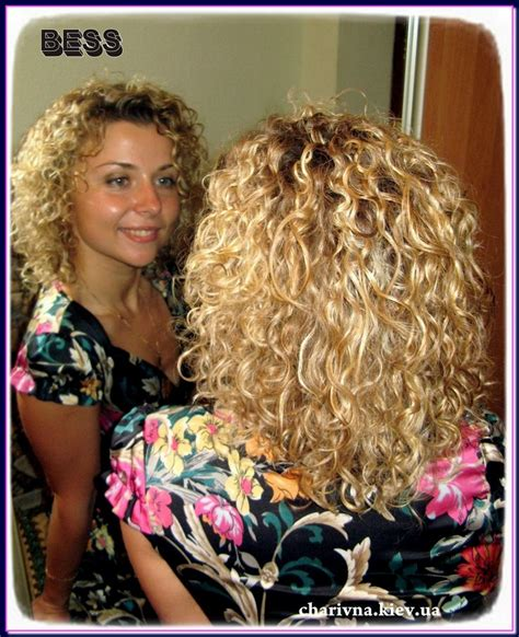 hairnets for perm medium length layered spiral perm curly hairstyles blonde