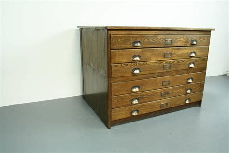 Architect Drawers by 1930s Wooden Plan Chest Architect Drawers With Brass