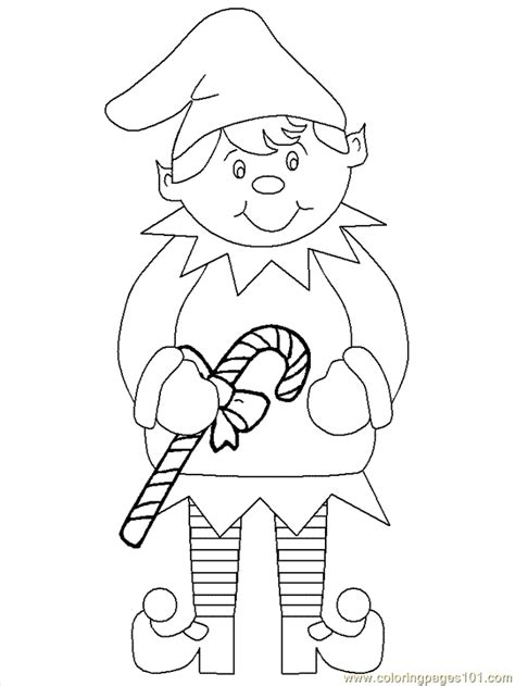 printable elf coloring picture elf printable template new calendar template site