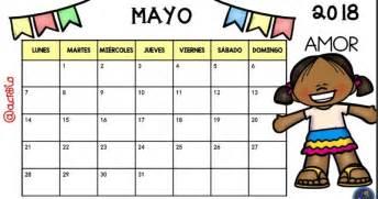 Calendario 2018 Mayo Calendario 2018 Para Imprimir Anual Mensual Escolar