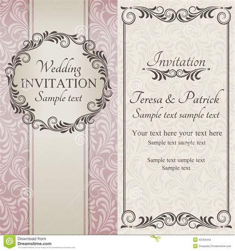 Beispieltext Hochzeitseinladung by Barocke Hochzeitseinladung Braun Rosa Und Beige