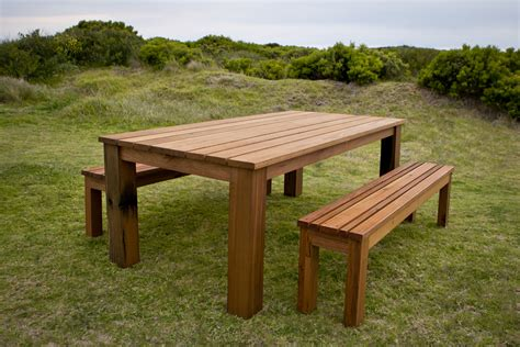 Handmade Dining Tables Melbourne - breamlea outdoor dining table setting bombora custom