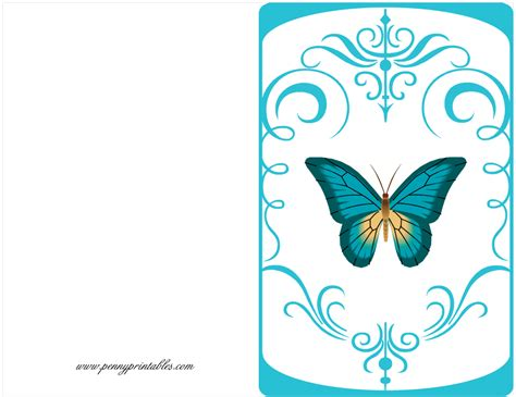 Free Printable Birthday Cards Butterfly Card Free Birthday Card Penny Printables