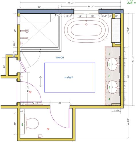 bathroom design plans adorable 50 master bathroom layout without tub design