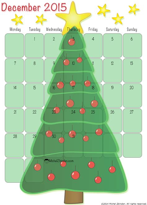 printable christmas december 2015 calendar pdf 8 best images of free christmas december 2015 calendar