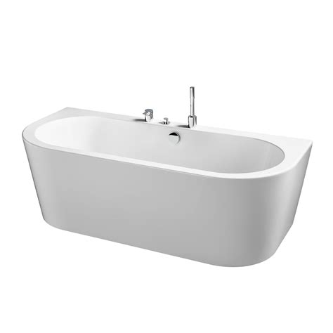 double ended bathtub bormida 180x80 d shaped double ended bath with combined