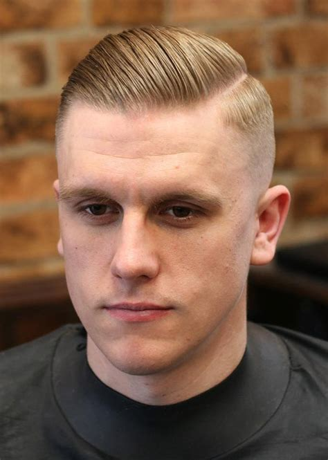 military haircut side part men the skin fade haircuts for men gentlemen hairstyles