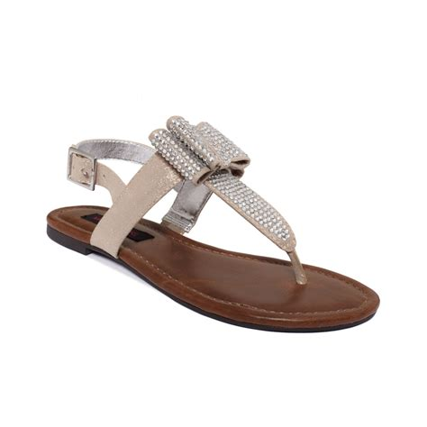 silver sandals material shayla flat sandals in silver lyst