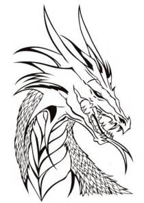 dragon head coloring page free printable coloring pages