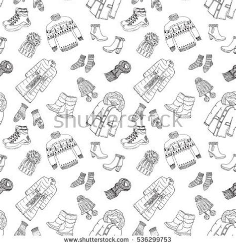 daily doodle clothes winter clothes stock images royalty free images vectors