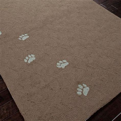paw print rug paw prints indoor outdoor rug decor