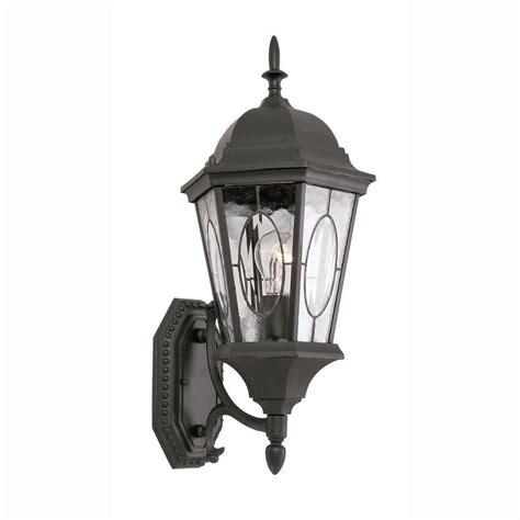 Bel Air Outdoor Lighting Bel Air Lighting Cameo 1 Light Outdoor Black Coach Lantern With Water Glass 4715 Bk The Home Depot
