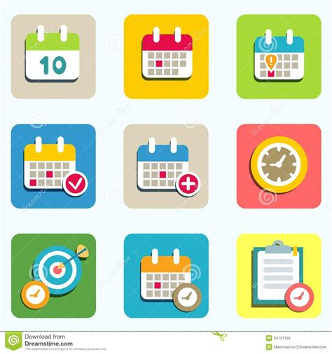 event layout vector calendar and event icons stock vector illustration of