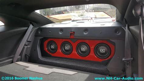 chevy camaro custom sub box boomer nashua mobile electronics