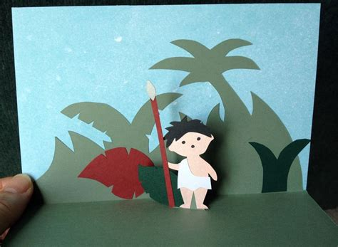 boys pop up card template jungle boy pop up card template from 3d cards by chikako