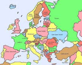 europe map countries here s a map of european countries with literal translations of their names