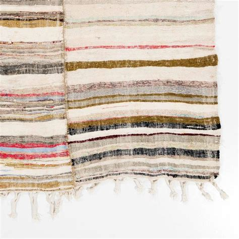 flat weave cotton rugs striped vintage cotton rag rug flat weave kilim for sale at 1stdibs