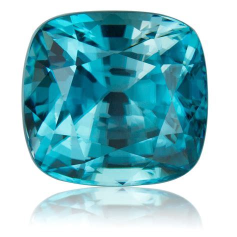 cambodian blue zircon cushion 6 81ct king gems