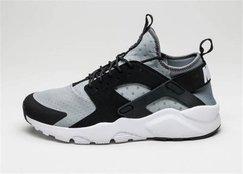 Nike Air Huarache Black Grey nike air huarache run ultra wolf grey white black cool grey asphaltgold