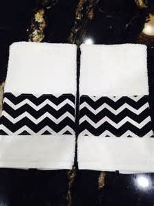towel one black and white chevron bathroom by