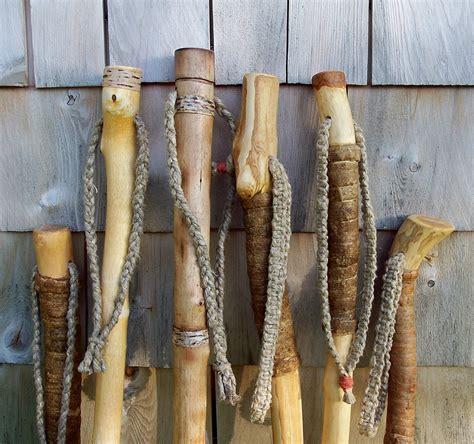 Handmade Hiking Sticks - 60 inch walking stick maple wood hiking staff with free