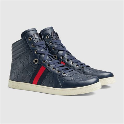 mens gucci sneakers gucci guccissima leather high top sneaker