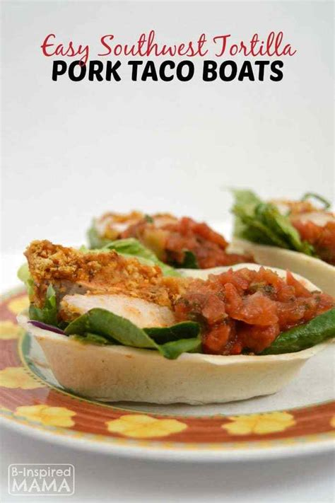 taco boats in oven easy southwest pork taco boats dinner recipe