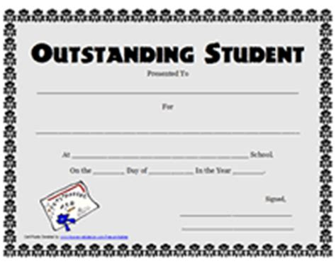 student of the year certificate template printable outstanding student awards school certificates
