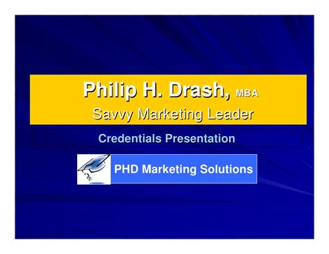 Mba Credentials After Name by P Drash 2009 Credentials Presentation