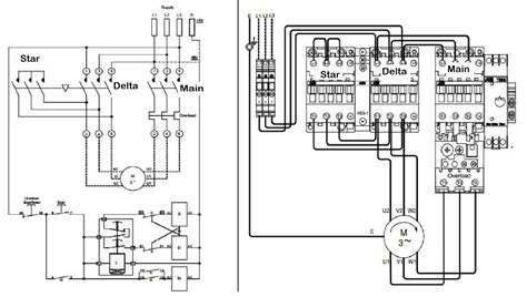 delta starter circuit diagram motor three phase motor