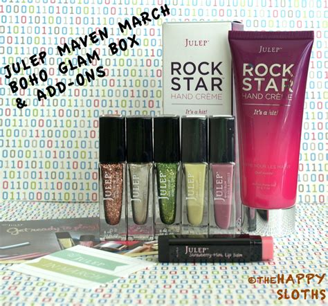 Box Aki Custom 06 Independent julep maven march boho glam box add ons the happy sloths makeup review