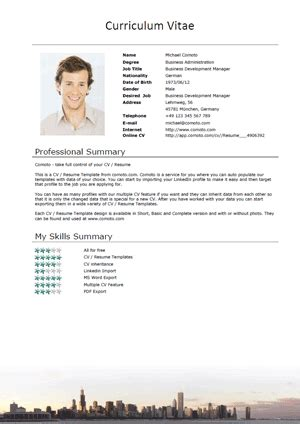 Front Office Manager Resume Sample by Cv Templates Nye Comoto