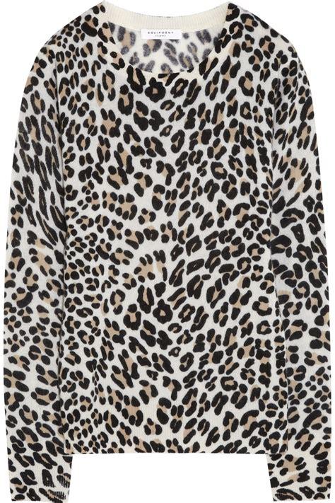 Leopard Print Pullover animal print sweaters cardigan