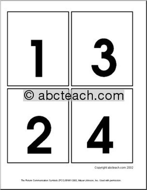 number flashcards printable 1 20 free printable number flashcards 1 30 7 best images of