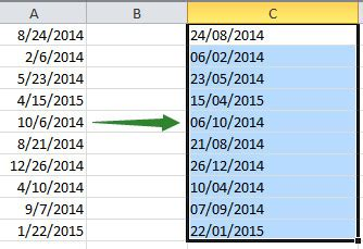 format date en francais convertir des formats de dates avec excel anglais