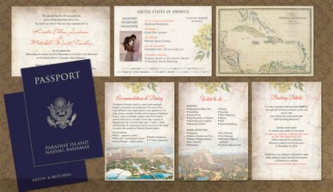 passport wedding invitation booklets real passport style