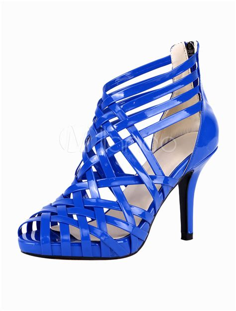 royal blue gladiator sandals royal blue pu leather womens gladiator sandals