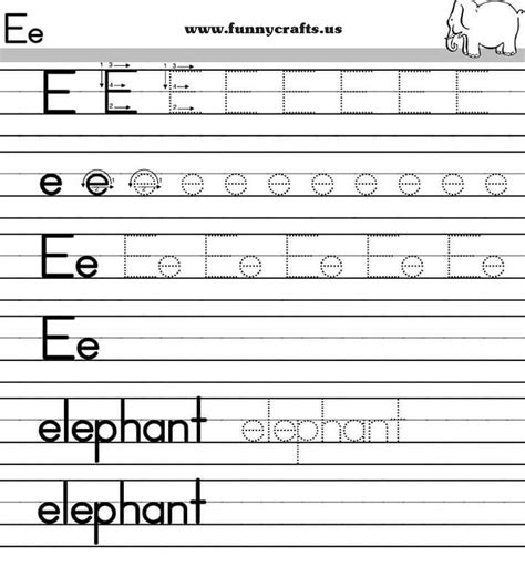 Alphabet Worksheets For Grade by Letter E Handwriting Worksheets For Preschool To