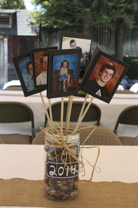 graduation centerpieces with pictures 25 best ideas about grad centerpieces on