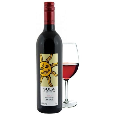 sula shiraz indian red wine vol ml