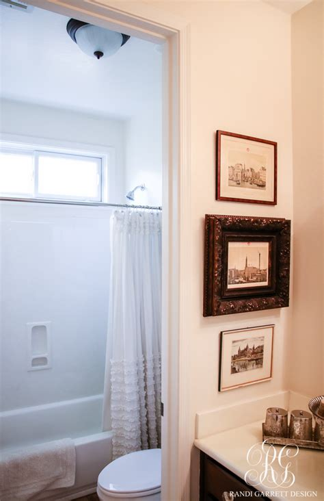 transitional guest bathroom makeover mood board amp before