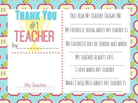 thank you cards template for teachers 10 gift ideas w free printable gift tags hip2save