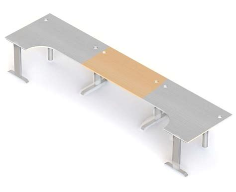 Desk Leg Extensions by Form Crescent Desk Extension With I Leg Office Furniture