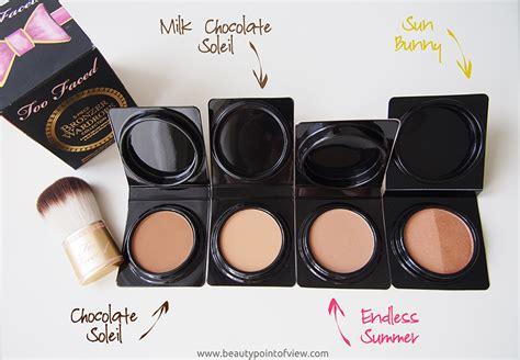 too faced milk chocolate soleil light medium matte bronzer too faced bronzer wardrobe beauty point of view