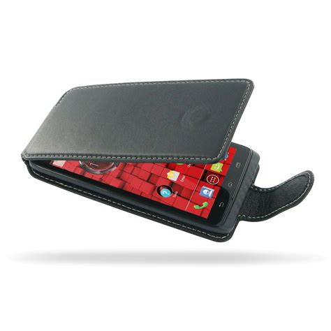 motorola droid maxx leather flip carry pdair sleeve pouch